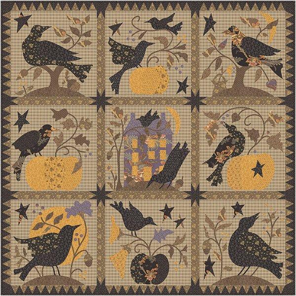 Blackbird Designs Raven Quilt Pattern