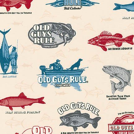 OLD GUYS RULE - LARGE FISH - NATURAL - AOD 16701-14