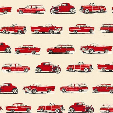 OLD GUYS RULE - SMALL CLASSIC CARS - RED - AOD 16703-3