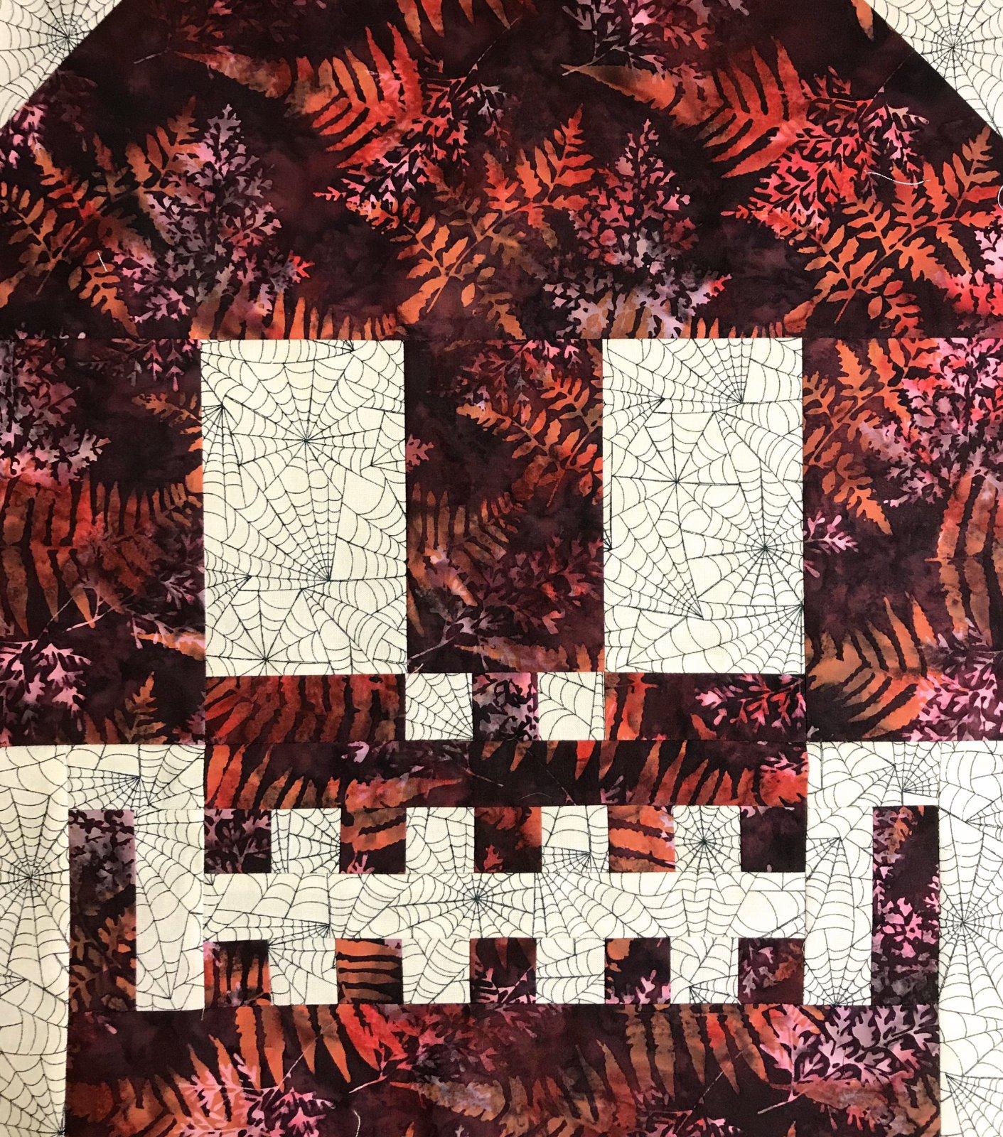 Batik Sugar Skull Quilt Block