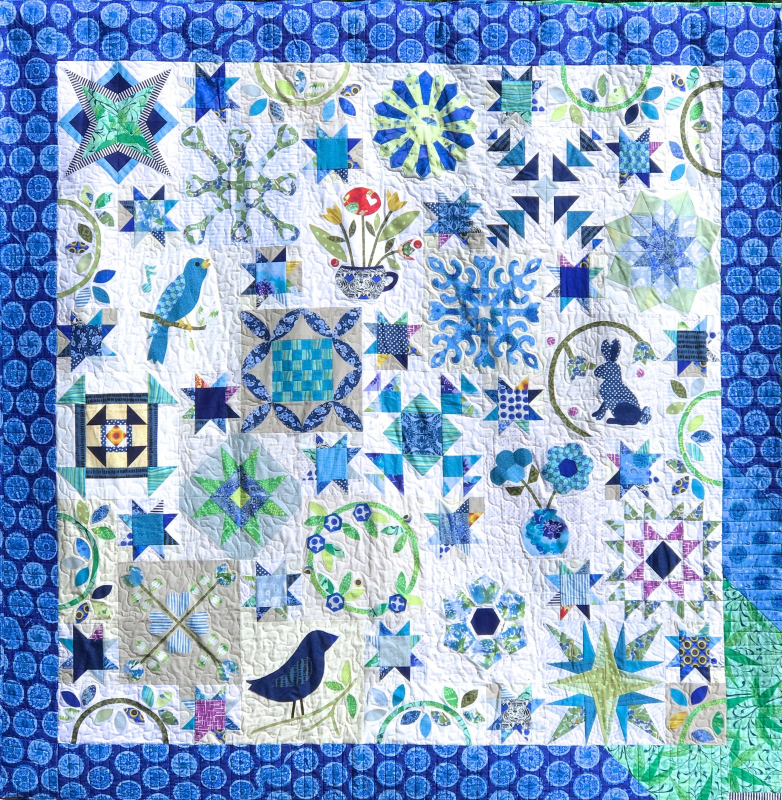 HAPPY DAYS - SARAH FIELKE - BLOCK OF THE MONTH - BLUE SPRINGS - REGISTRATION/KIT1 - MAY
