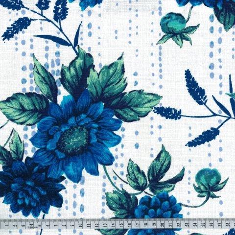 OUTBACK WIFE - AUTHENTIC BARKCLOTH - BINDI - BLUE - 58 WIDE - TE 6012 B