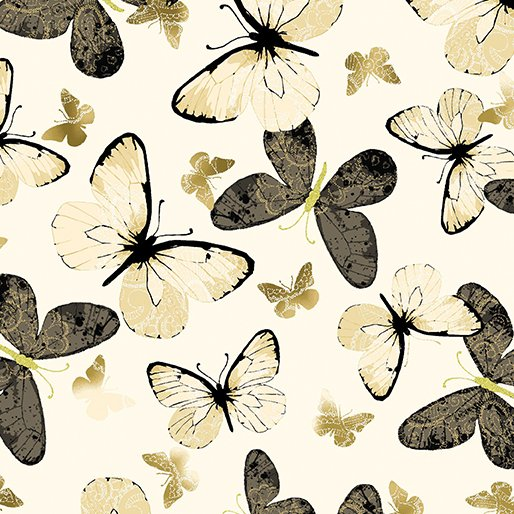 Kanvas Studio New Traditions Shimmer Butterfly Cream 8635M