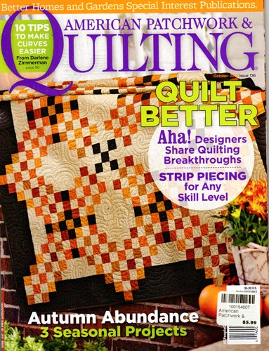 Better Homes And Gardens American Patchwork And Quilting Magazine October 2015