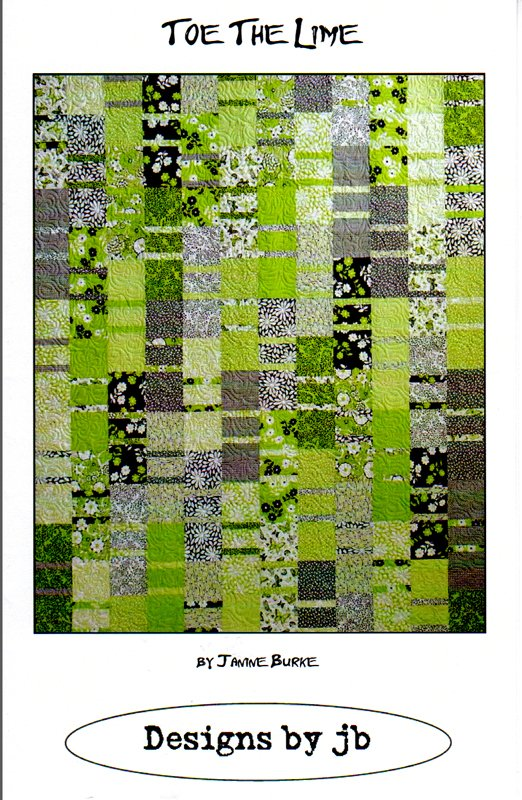 Toe the Lime Quilt Pattern by Janice Burke