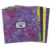 Wilmington Prints  Ultra Violet 10 karat Jewels 10 Squares Q511 33 511
