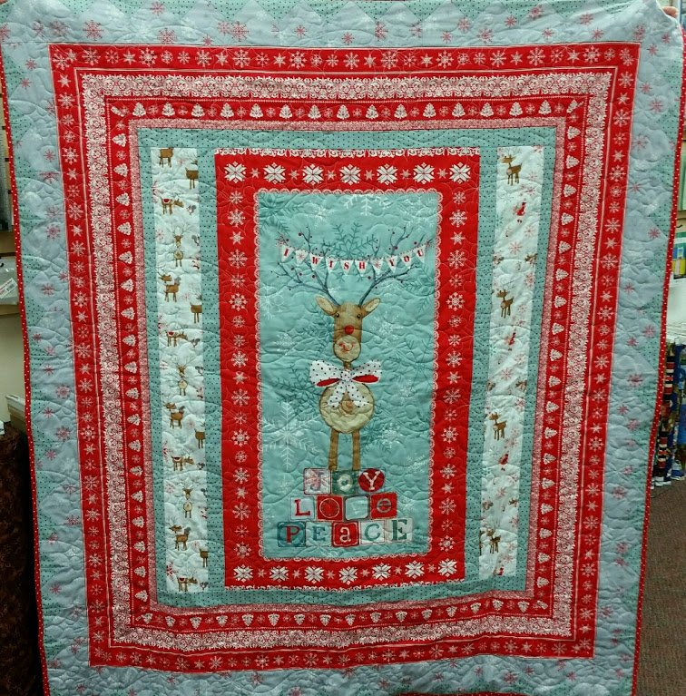 Love Joy Peace Christmas Quilt W