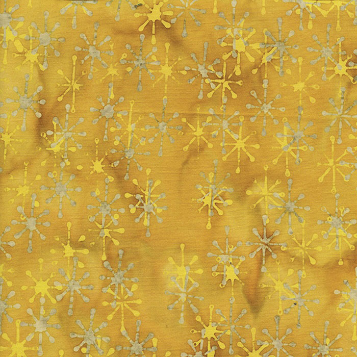 Island Batik Sublime 60's Stars Gold and Silver