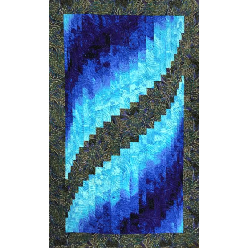 Quilt Patterns With Two Fabrics : Two Fabric Bargello Quilt