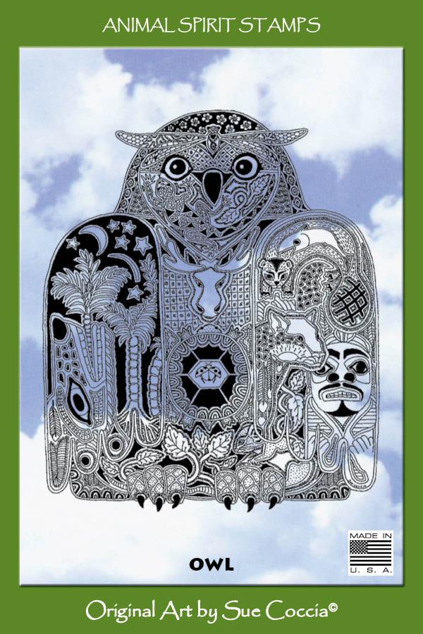Animal Spirit Stamp Owl Cling