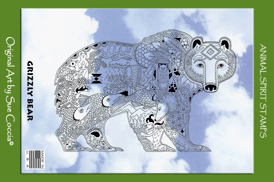 Animal Spirit Stamp Grizzly Bear Cling
