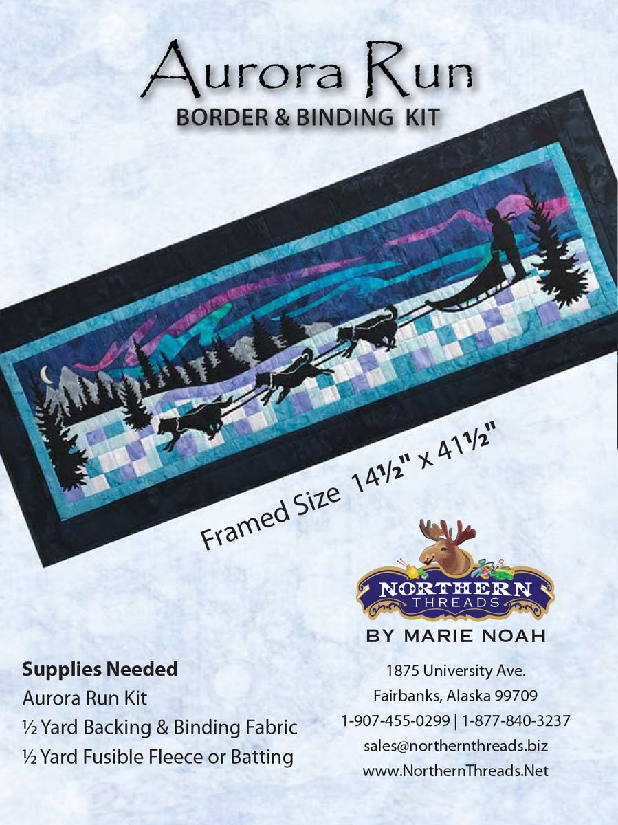 Aurora Run Border & Binding Kit - Row by Row 2017