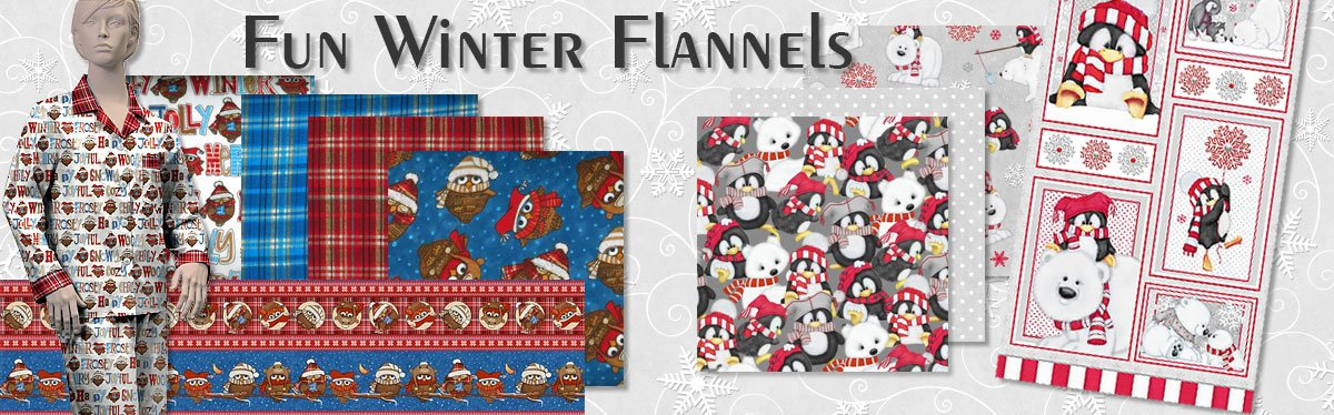 Fun cotton flannel prints