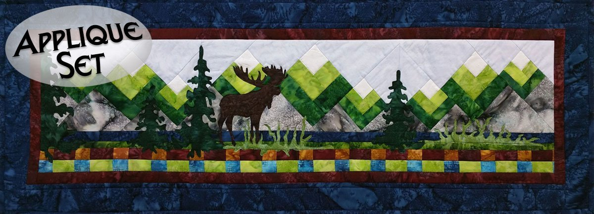 Moose Lake Pre-Cut  Laser Applique Set - Row by Row 2015