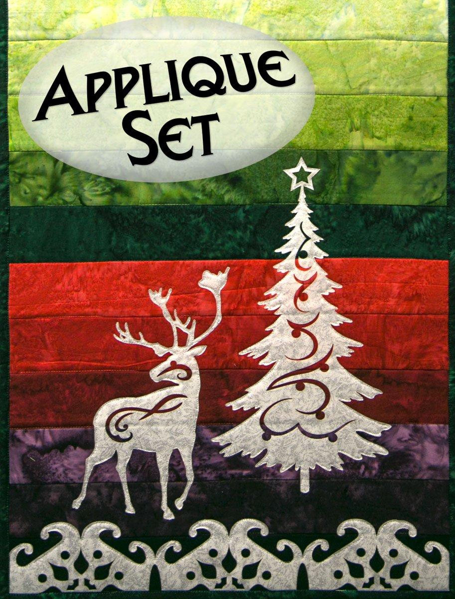 Reindeer & Holiday Tree Laser Cut Applique Set