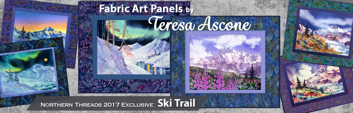 Fabric Art Panels by Teresa Ascone