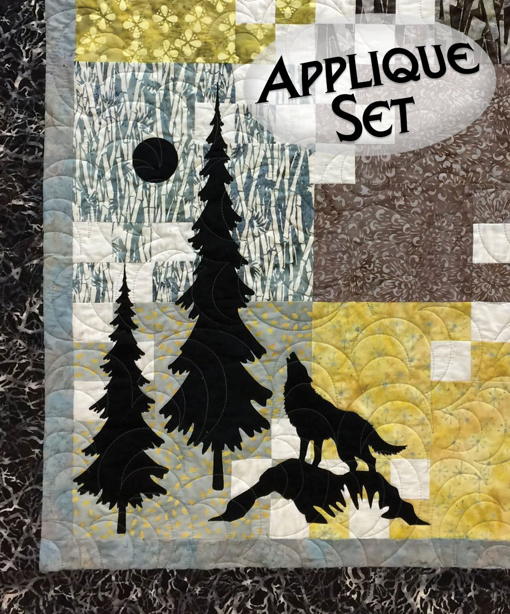Wolf & Trees Laser Cut Applique Set