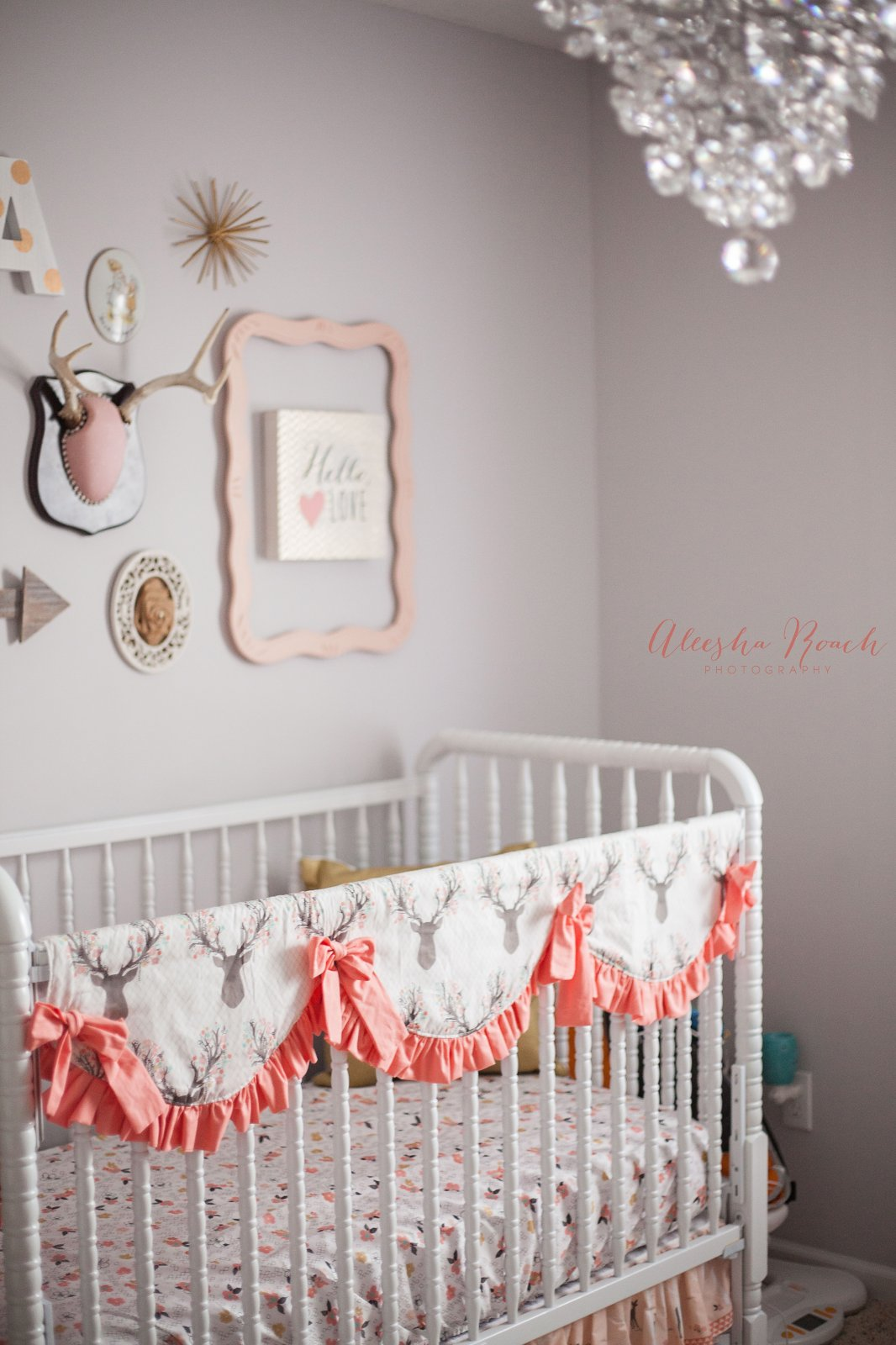 Scalloped Teething Crib Rail Cover - Long Side