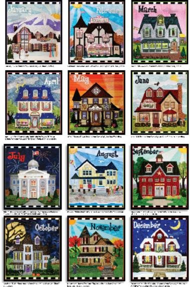 Holiday Houses Mini Quilt of the Month - REGISTRATION ONLY!