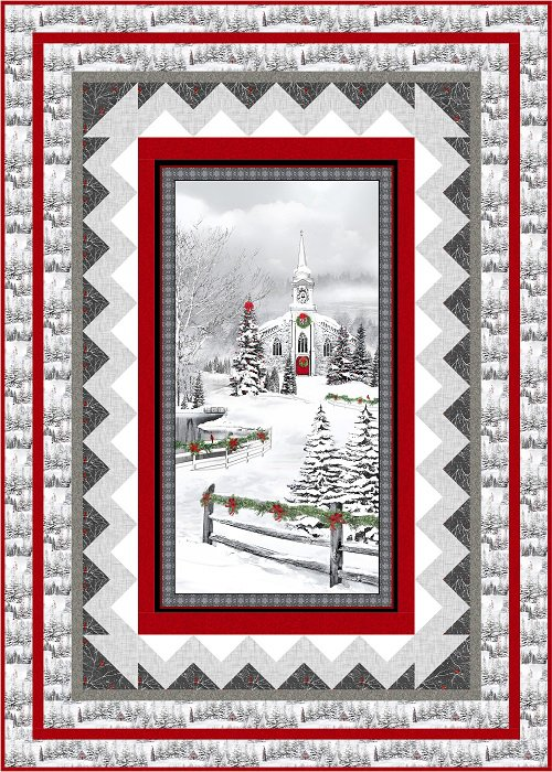 Home for the Holidays Kit, Quilt is 49 x 69