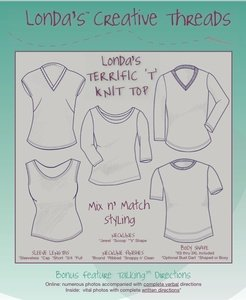 Londa's Terrific 'T' Knit Top Talking Pattern Booklet - PDF Delivery
