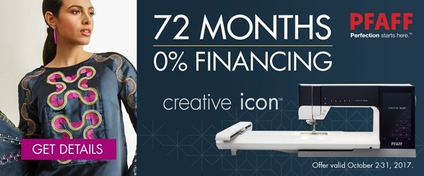 Pfaff Creative Icon Now in Stock