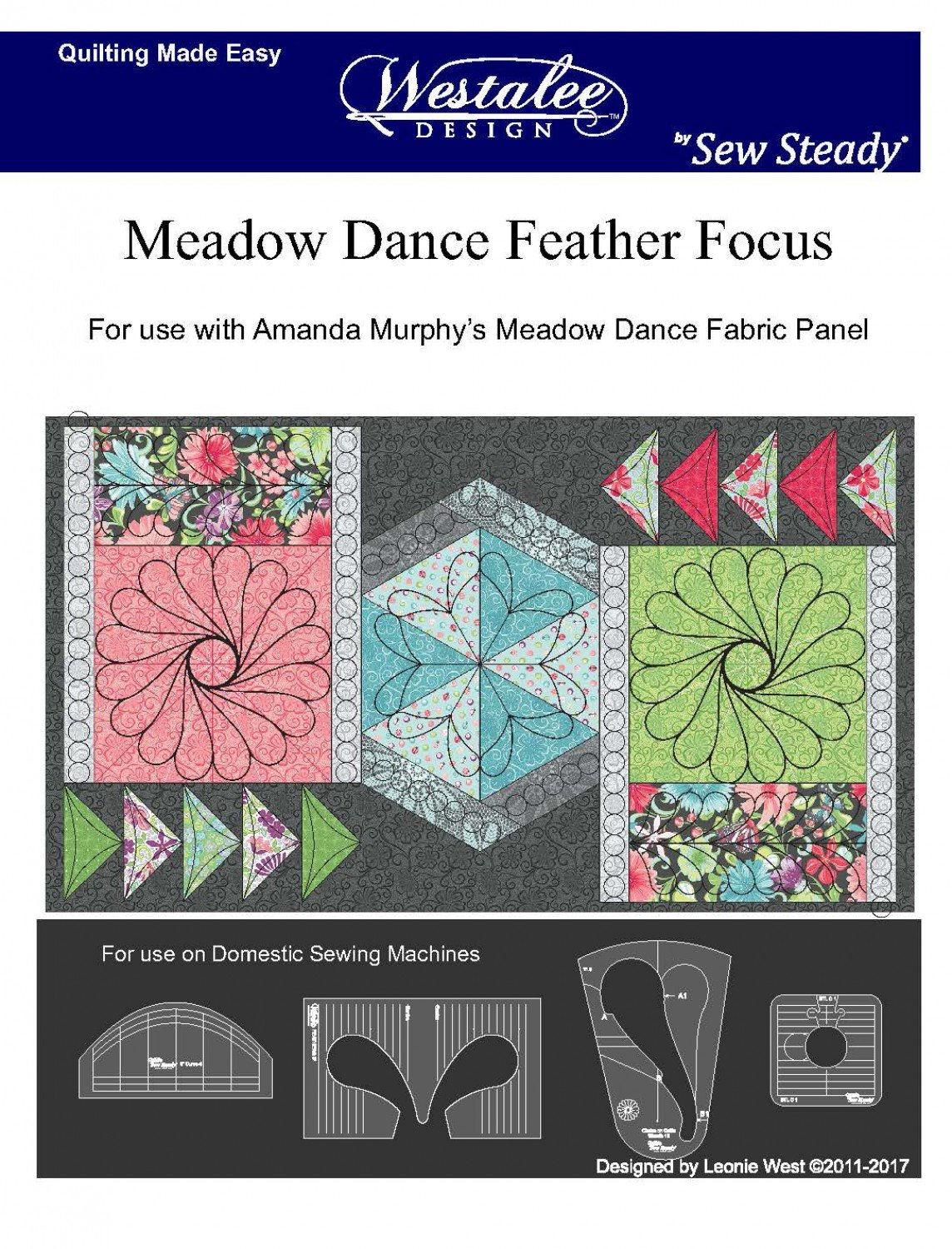 Meadow Dance Feather Focus by Westalee Designs - Template Set
