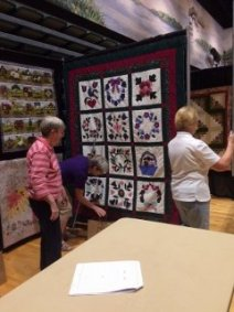 hanging of the quilts
