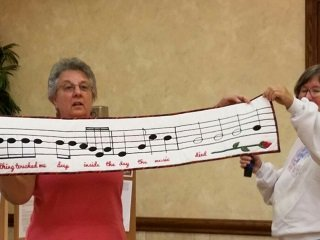 Donna P. - Husband's Musical Wall Hanging