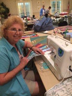 Ellen had beautiful batiks fabric