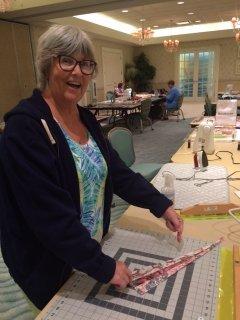 Donna is making Christmas Tree skirt