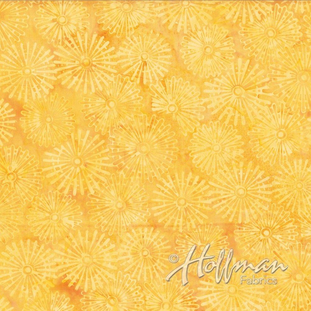 Hoffman Batik - P2008 199 Pinwheels Blond Ale
