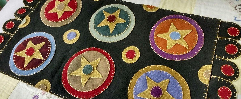 PT Fredericksburg Penny Rug Pattern Folk Art Stars