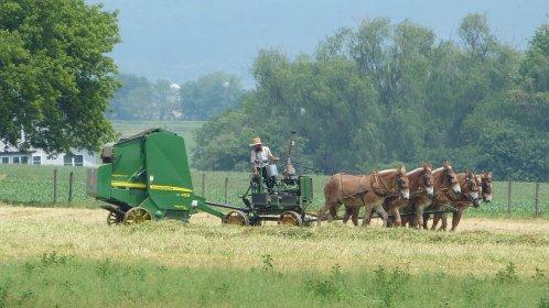 John Deere Baler Amish Country Lancaster