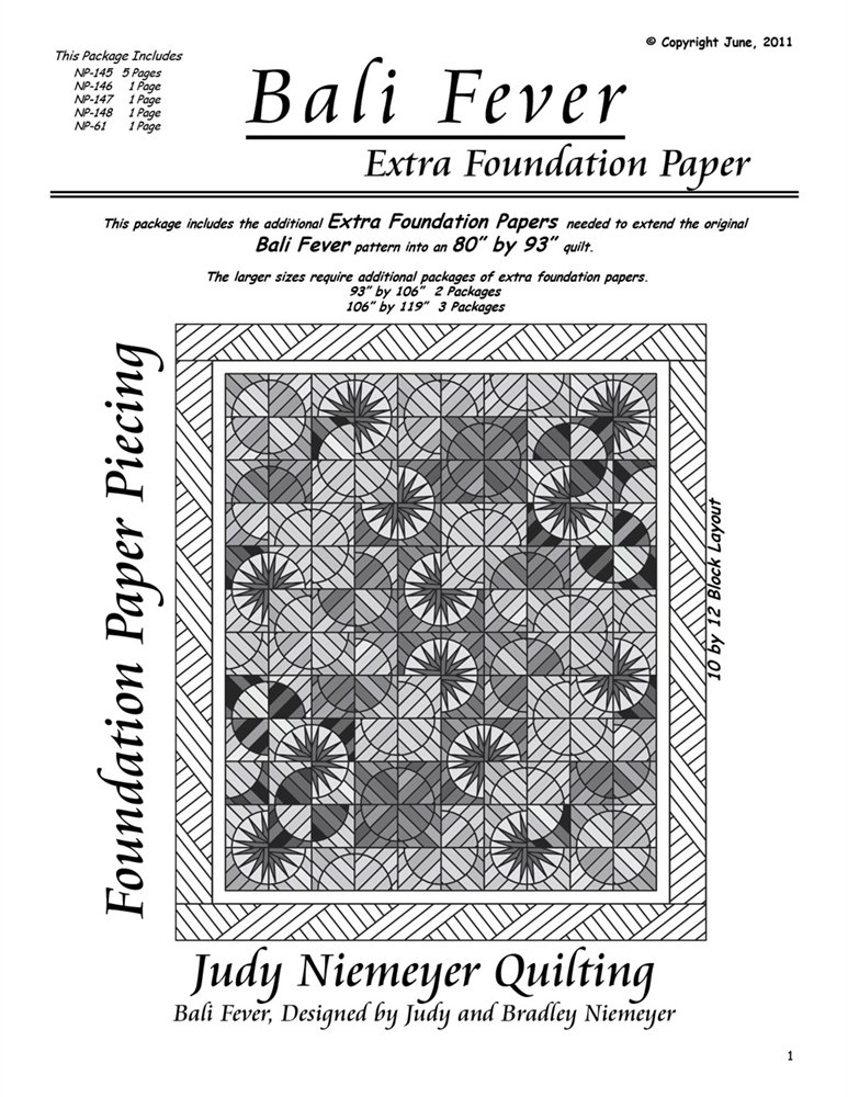 Patterns Judy Niemeyer Extra Foundation Papers