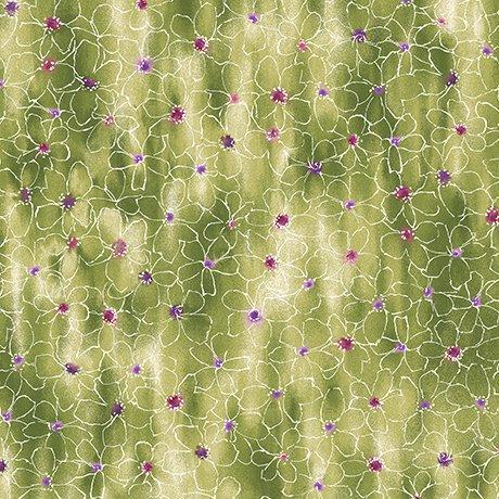 Ariel Floral Sketch Green