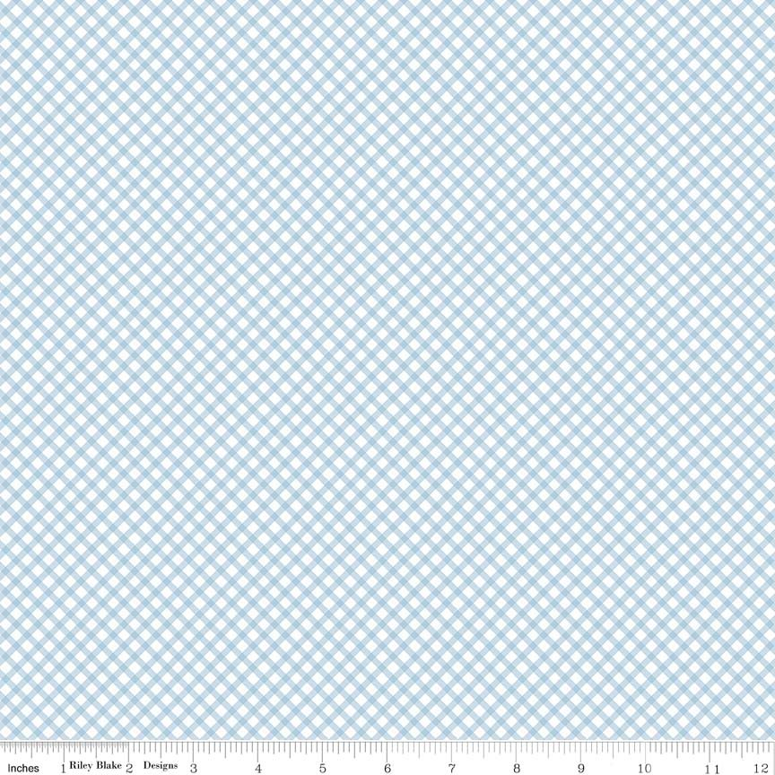 Bunnies & Cream Gingham Blue