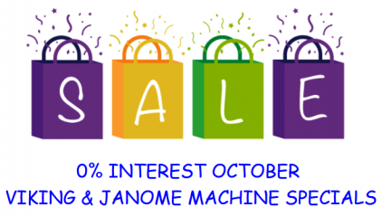OCTOBER SEWING MACHINE SPECIALS