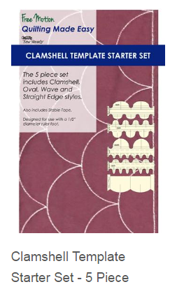 Free motion quilting ruler for Ruler foot and free motion quilting template starter set