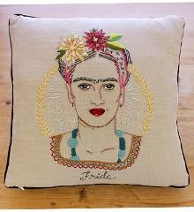 Frida Kahlo Embroidered Pillow Kit