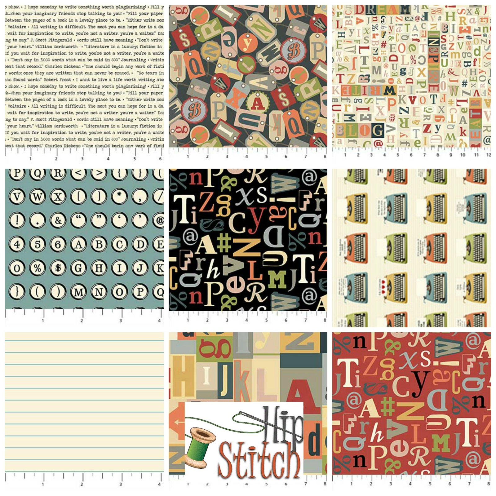 Letterpress by Northcott FQ Bundle - PREORDER