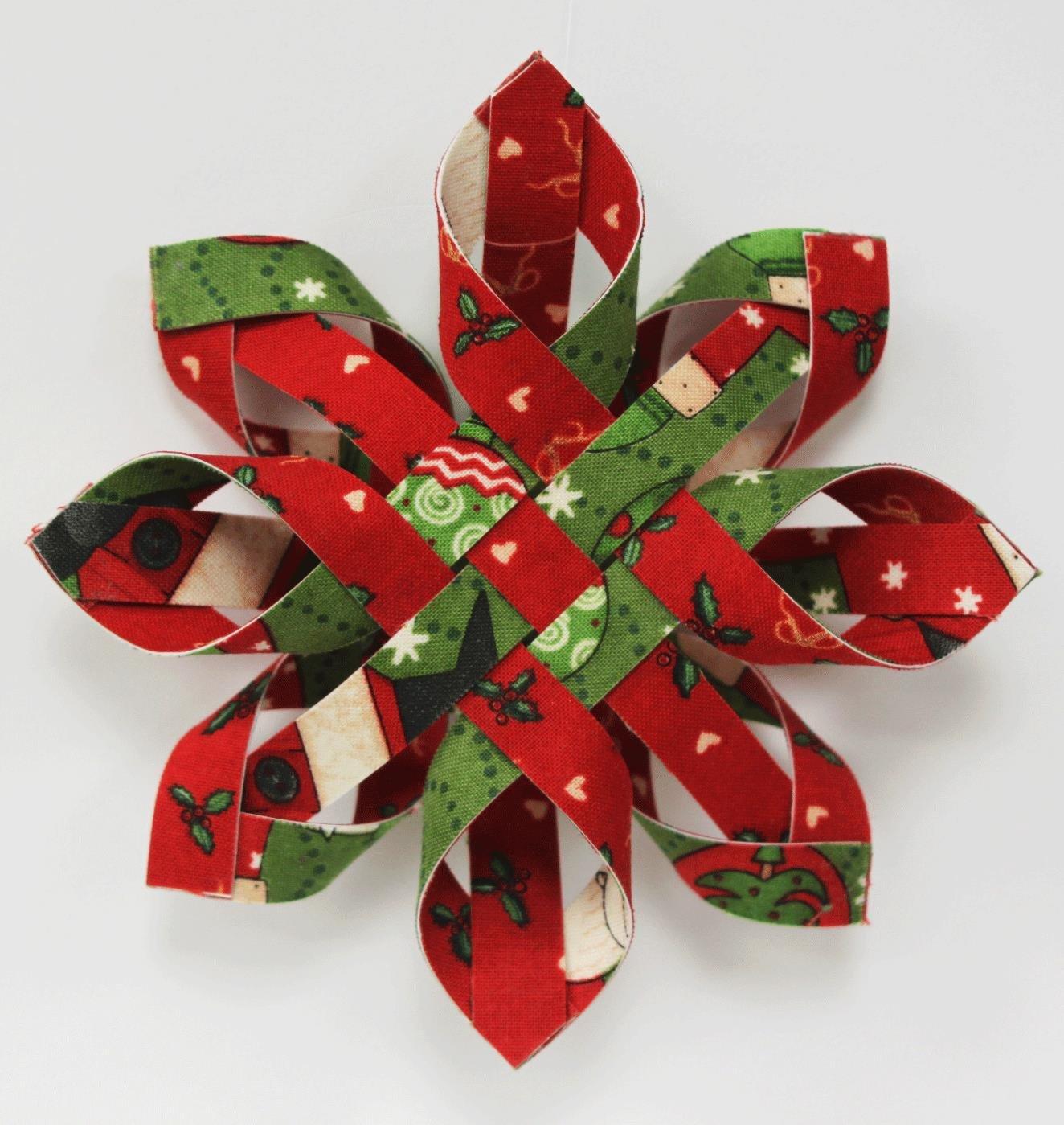 Woven Snowflake Ornament Pattern Amp Kit Single