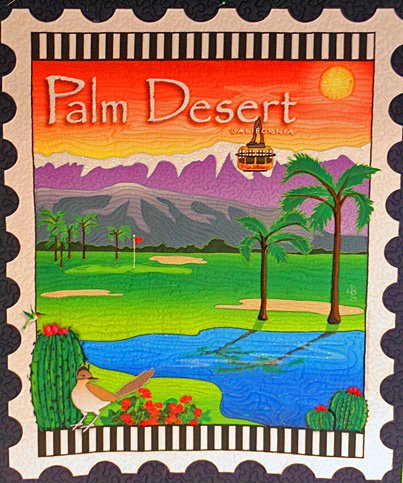 Palm Desert Mini Postage Stamp Panel