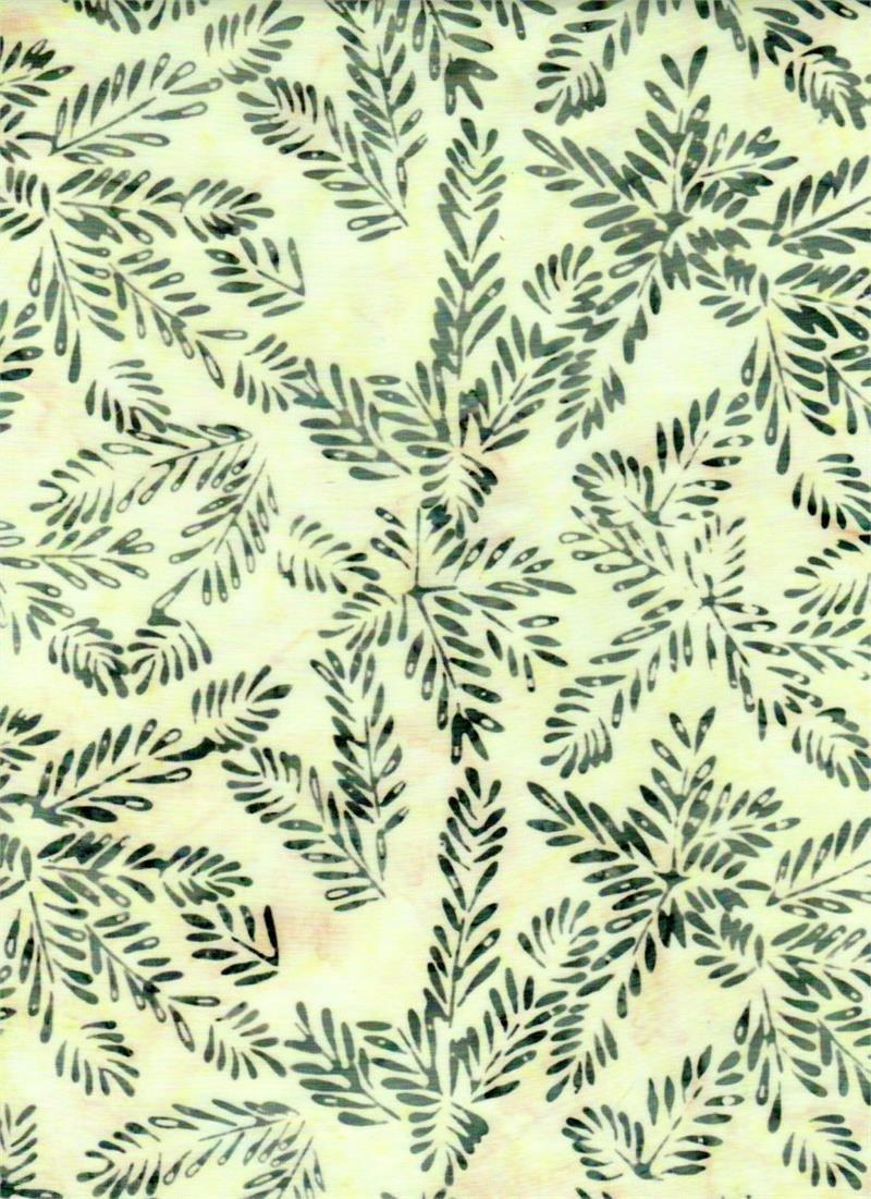 23266 Batik Ferns on Ecru