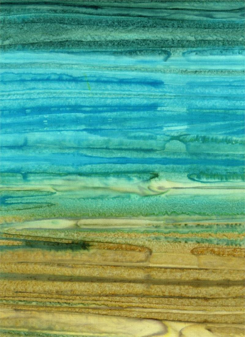 23401 Ombre Batik Blue/Green/Gold