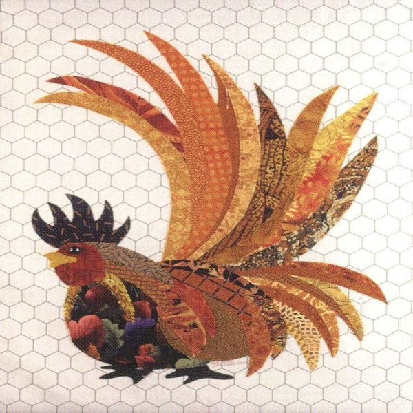 Rupert the Radical Rooster Fusible Applique  Pattern