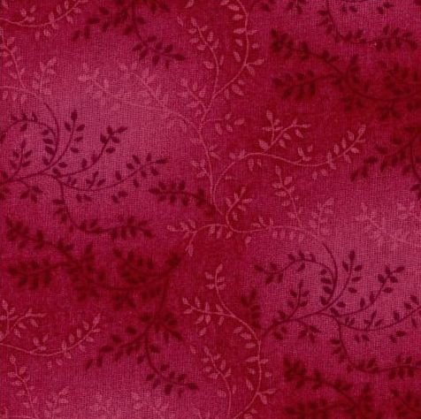 23399 Ferns on Scarlet 108 wide Backing