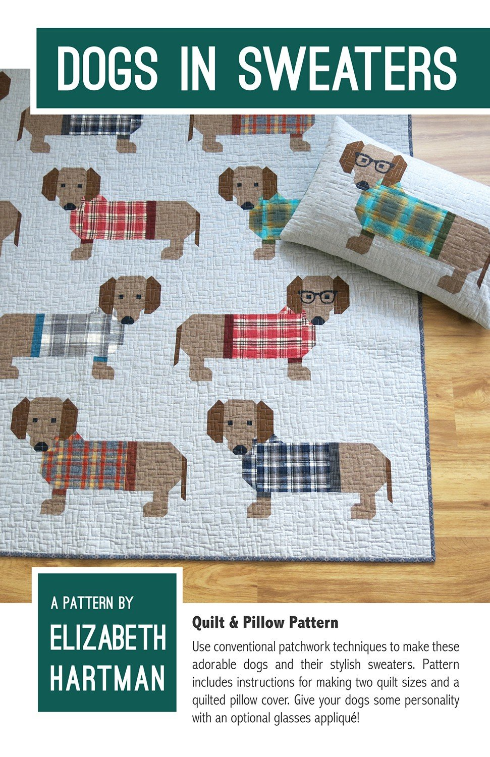 T-shirt quilt design instructions - Dogs In Sweaters By Elizabeth Hartman