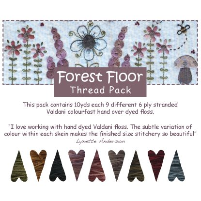 Forest Floor Valdani Thread Pack