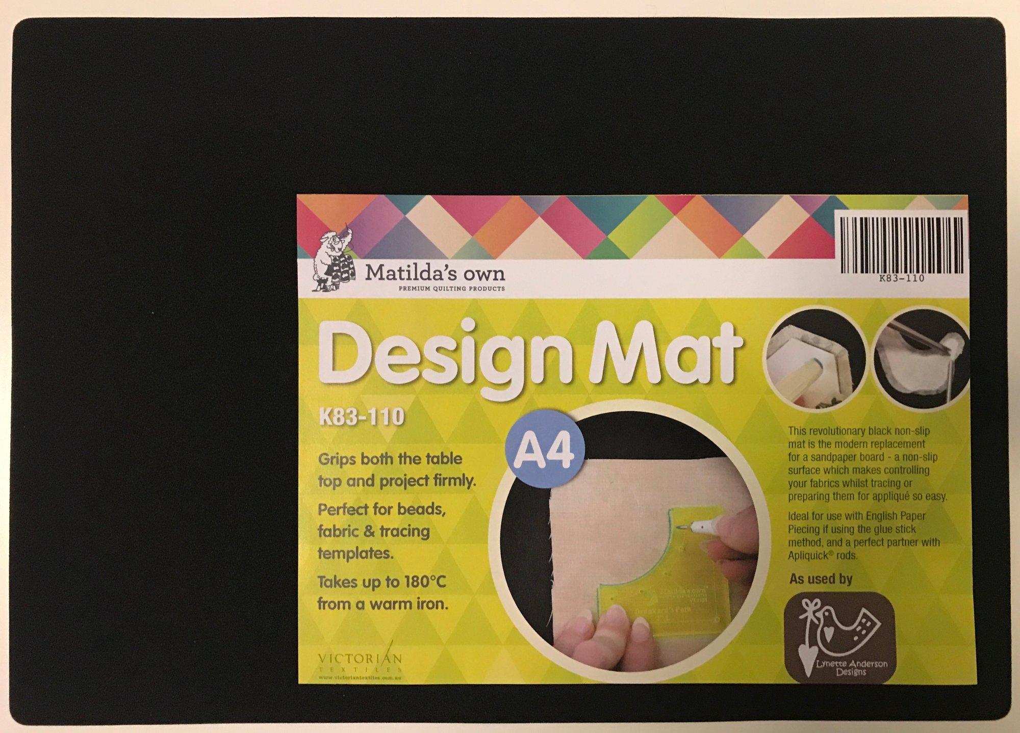 Design Mat - black non slip